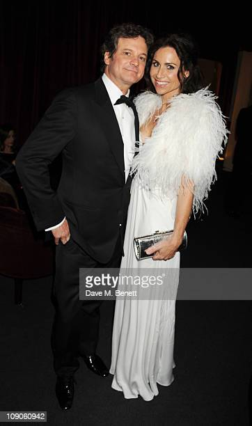 Colin Firth and Minnie Driver attend the Soho House Grey Goose After Party at Grovesnor House Hotel on February 13 2011 in London England
