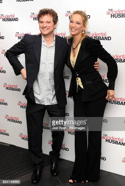 Colin Firth and Uma Thurman arrive for the UK premiere of The Accidental Husband at the Vue Cinema in Leicester Square London