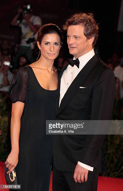 Colin Firth and wife Livia Giuggioli attend 'A Single Man' Premiere at the Sala Grande during the 66th Venice Film Festival on September 11 2009 in...