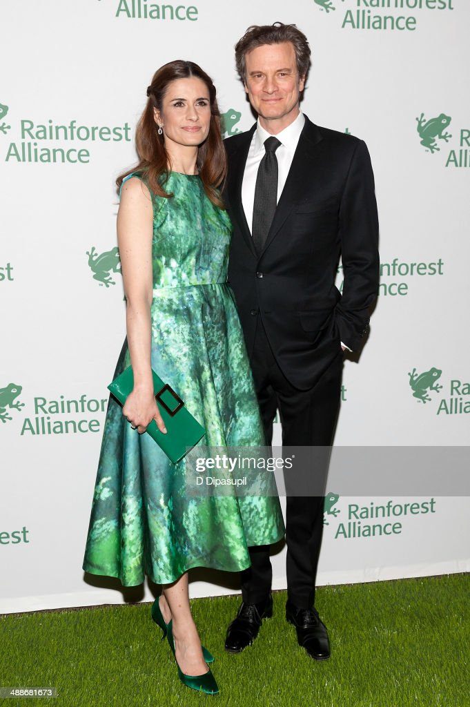 <a gi-track='captionPersonalityLinkClicked' href=/galleries/search?phrase=Colin+Firth&family=editorial&specificpeople=201620 ng-click='$event.stopPropagation()'>Colin Firth</a> (R) and wife <a gi-track='captionPersonalityLinkClicked' href=/galleries/search?phrase=Livia+Giuggioli&family=editorial&specificpeople=240162 ng-click='$event.stopPropagation()'>Livia Giuggioli</a> attend the 2014 Rainforest Alliance Gala at the American Museum of Natural History on May 7, 2014 in New York City.