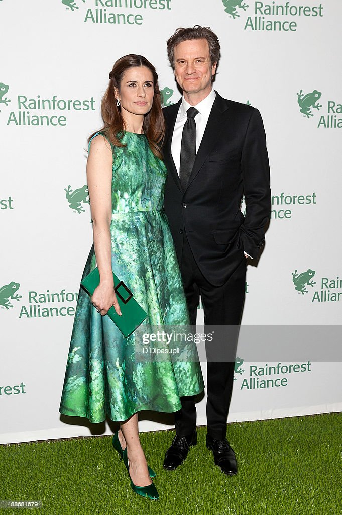 Colin Firth (R) and wife Livia Giuggioli attend the 2014 Rainforest Alliance Gala at the American Museum of Natural History on May 7, 2014 in New York City.