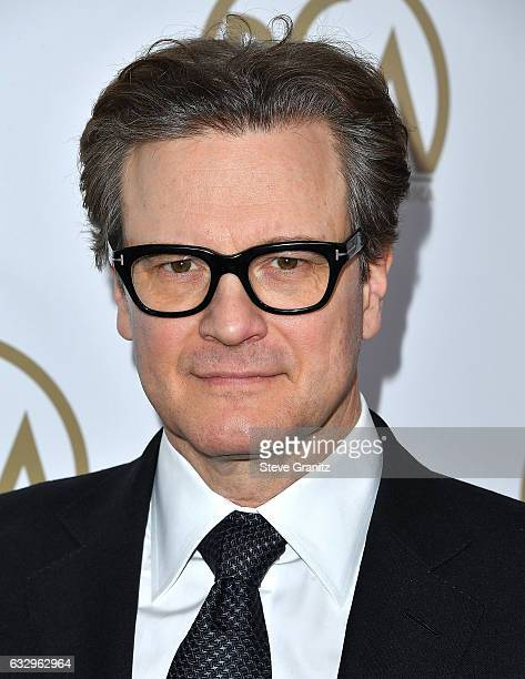 Colin Firth arrives at the 28th Annual Producers Guild Awards at The Beverly Hilton Hotel on January 28 2017 in Beverly Hills California
