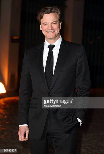 Colin Firth attends an evening celebrating with The Global Fund featuring the first green carpet challenge at Apsley House on September 16 2013 in...