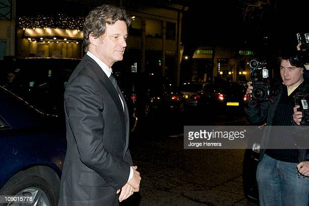 Colin Firth attends Harvey Weinstein's PreBAFTA dinner at Almada on February 11 2011 in London England
