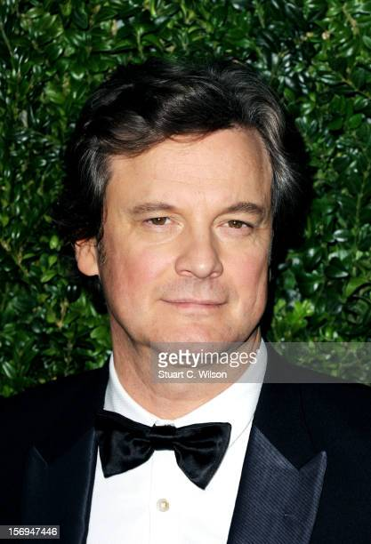 Colin Firth attends the 58th London Evening Standard Theatre Awards in association with Burberry on November 25 2012 in London England