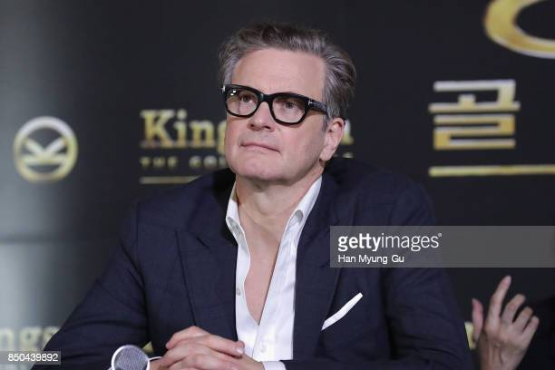 Colin Firth attends the 'Kingsman The Golden Circle' press conference at Yongsan CGV on September 21 2017 in Seoul South Korea