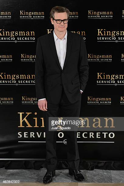 Colin Firth attends the 'Kingsman The Secret Service' Madrid Photocall at Villamagna Hotel on February 6 2015 in Madrid Spain