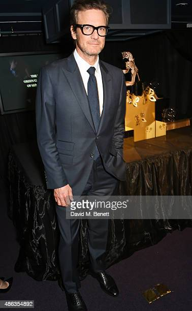 Colin Firth attends the launch of the Sergio Rossi Green Carpet Collection of Luxury Accessories at Wellington Arch on September 3 2015 in London...