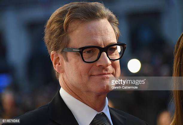 Colin Firth attends the 'Nocturnal Animals' Headline Gala screening during the 60th BFI London Film Festival at Odeon Leicester Square on October 14...