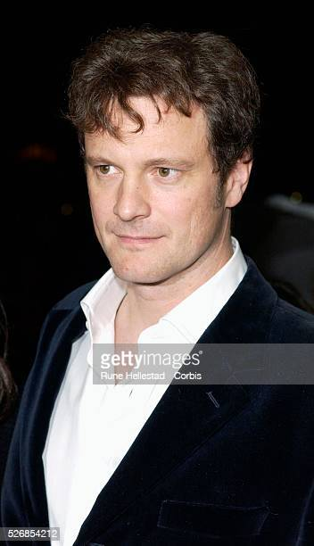 Colin Firth attends the premiere of 'Girl With A Pearl Earring' at the Odeon WestEnd in conjunction with the London Film Festival
