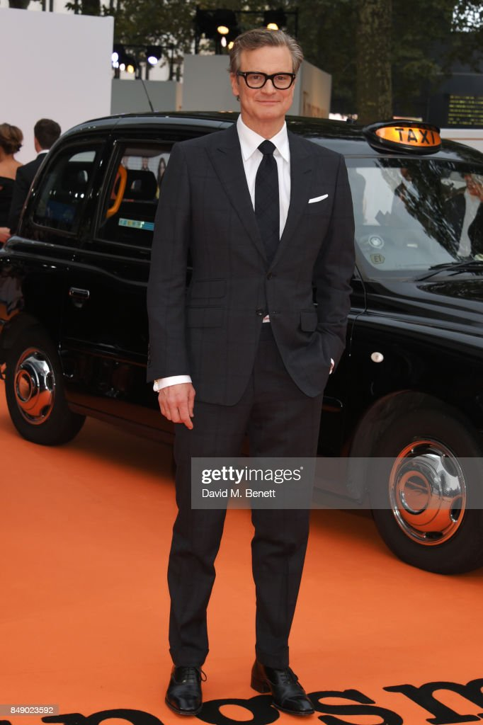 Colin Firth attends the World Premiere of 'Kingsman: The Golden Circle' at Odeon Leicester Square on September 18, 2017 in London, England.