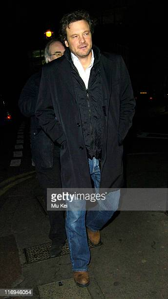 Colin Firth during Celebrity Sightings at The Ivy Restaurant in London December 12 2005 at The Ivy Restaurant in London Great Britain
