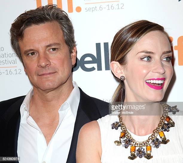 Colin Firth Emily Blunt attending the The 2012 Toronto International Film FestivalRed Carpet Arrivals for 'Arthur Newman' at the Elgin Theatre in...