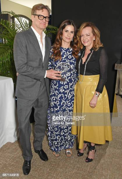 Colin Firth Livia Firth and Caroline Scheufele Artistic Director and CoPresident of Chopard attend a private lunch which they hosted together...