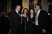 Colin Firth Livia Giuggioli Jessica Biel and producer Barnaby Thompson attend the after party for the premiere of 'Easy Virtue' at Home house during...