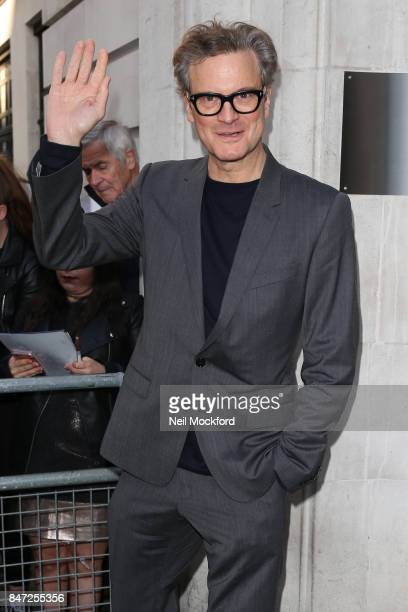 Colin Firth seen at BBC Radio 2 on September 15 2017 in London England