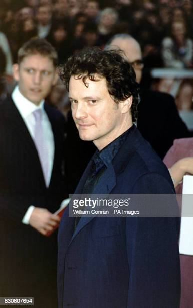 Colin Firth star of 'Bridget Jones Diary' arriving for the UK premiere at the Empire in London's Leicester Square