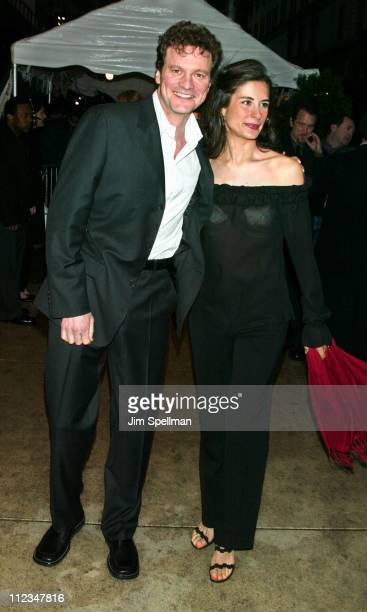 Colin Firth wife Livia Guiggioli during New York Premiere of 'The Importance of Being Earnest' at The Paris Theatre in New York City New York United...