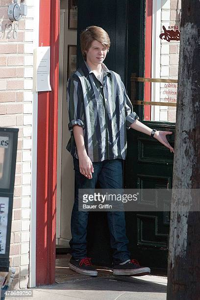 Colin Ford is seen on the movie set of 'We Bought a Zoo' on January 25 2011 in Los Angeles California