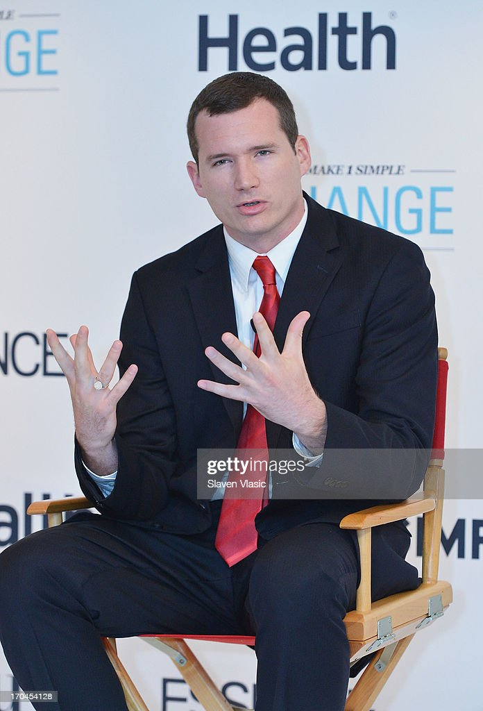Colin Goddard, Virginia Tech shooting survivor attends 'Make One Simple Change' panel and breakfast at Time-Life Building on June 13, 2013 in New York City.