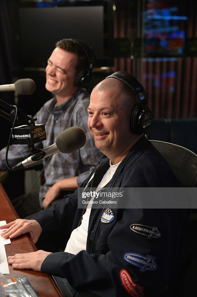 Colin Hanks and Jim Norton visits the SiriusXM Studio on June 6, 2012 in New York City.