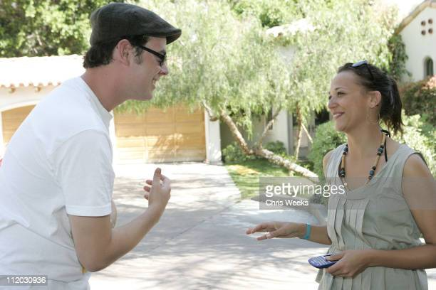 Colin Hanks and Rashida Jones during DKNY Jeans and Jaguar Host 'The Sanctuary' at Lago Del Sol at Private Residence in Rancho Mirage California...