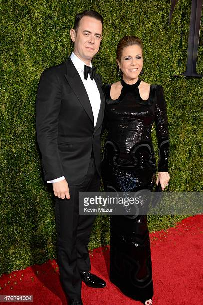 Colin Hanks and Rita Wilson attend the 2015 Tony Awards at Radio City Music Hall on June 7 2015 in New York City