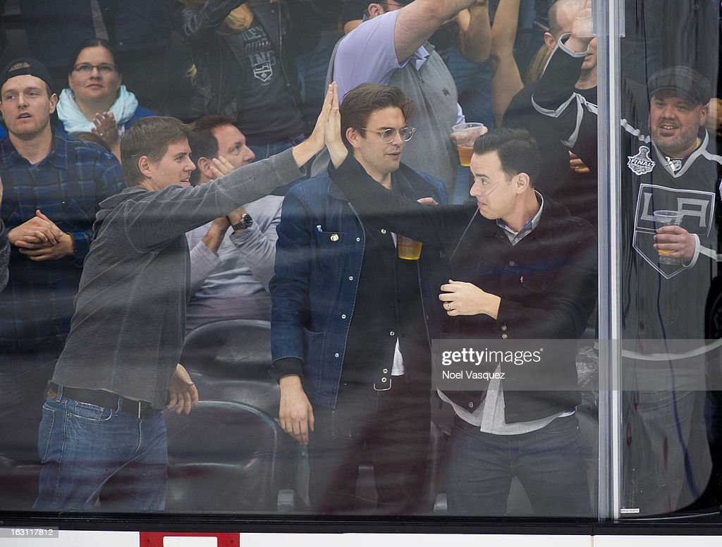 <a gi-track='captionPersonalityLinkClicked' href=/galleries/search?phrase=Colin+Hanks&family=editorial&specificpeople=584005 ng-click='$event.stopPropagation()'>Colin Hanks</a> attends a hockey game between the Nashville Predators and Los Angeles Kings at Staples Center on March 4, 2013 in Los Angeles, California.