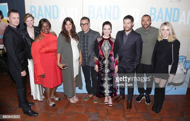 Colin Hanks Brooklyn Decker Retta Angelique Cabral Fred Armisen Zoe ListerJones Adam Pally Jesse Williams and Majandra Delfino attend the Premiere Of...
