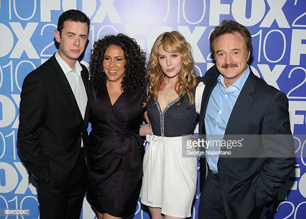 Colin Hanks Diana Maria Riva Jenny Wade and Bradley Whitford attend the 2010 FOX UpFront after party at Wollman Rink Central Park on May 17 2010 in...