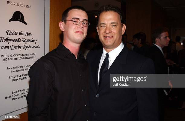 Colin Hanks Tom Hanks during 'Road to Perdition' Los Angeles Premiere at Academy Theatre in Beverly Hills California United States