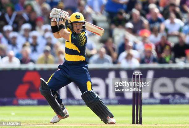 Colin Ingram of Glamorgan in action during the NatWest T20 Blast SemiFinal match between Birmingham Bears and Glamorgan at Edgbaston on September 2...