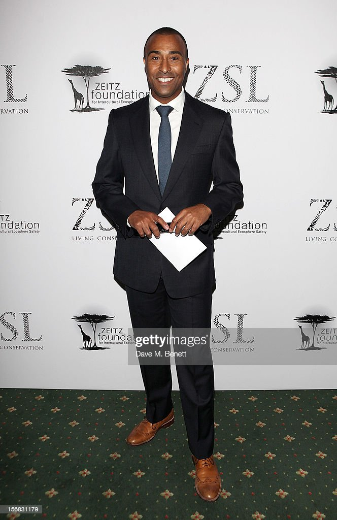 Colin Jackson arrives at the Zeitz Foundation and ZSL Gala at London Zoo on November 22, 2012 in London, England.
