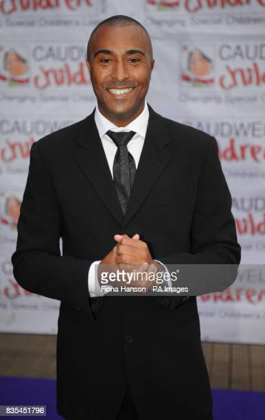 Colin Jackson arrives for the Butterfly Ball in Battersea Park London The event by Caudwell Children aims to raise funds for disabled children