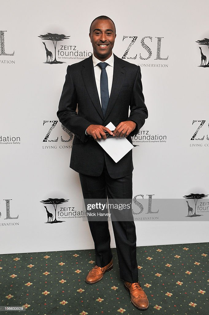 Colin Jackson attends the Zeitz Foundation and ZSL gala at London Zoo on November 22, 2012 in London, England.