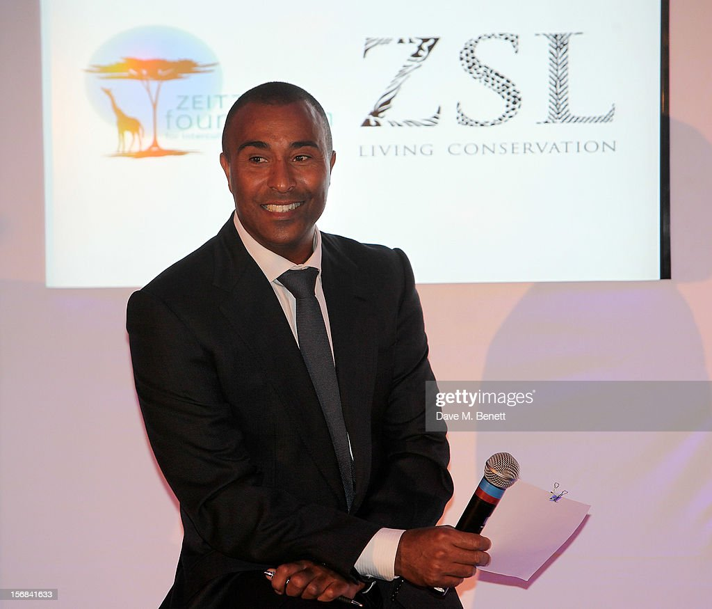 Colin Jackson hosts the Zeitz Foundation and ZSL Gala at London Zoo on November 22, 2012 in London, England.