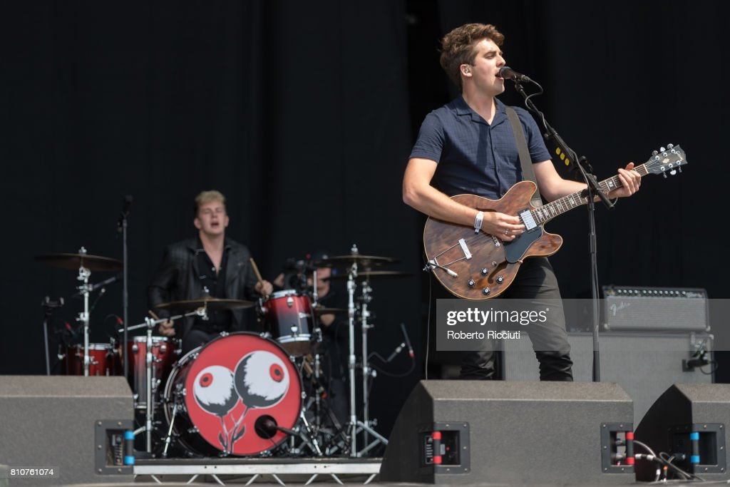 Colin Jones and Kieran Shudall of English indie rock band Circa Waves perform on stage during TRNSMT Festival Day 2 at Glasgow Green on July 8, 2017 in Glasgow, Scotland.