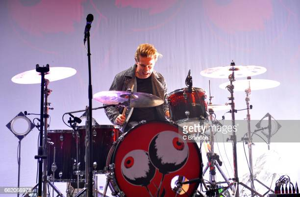 Colin Jones of Circa Waves performs on stage at the Forum on March 31 2017 in London United Kingdom