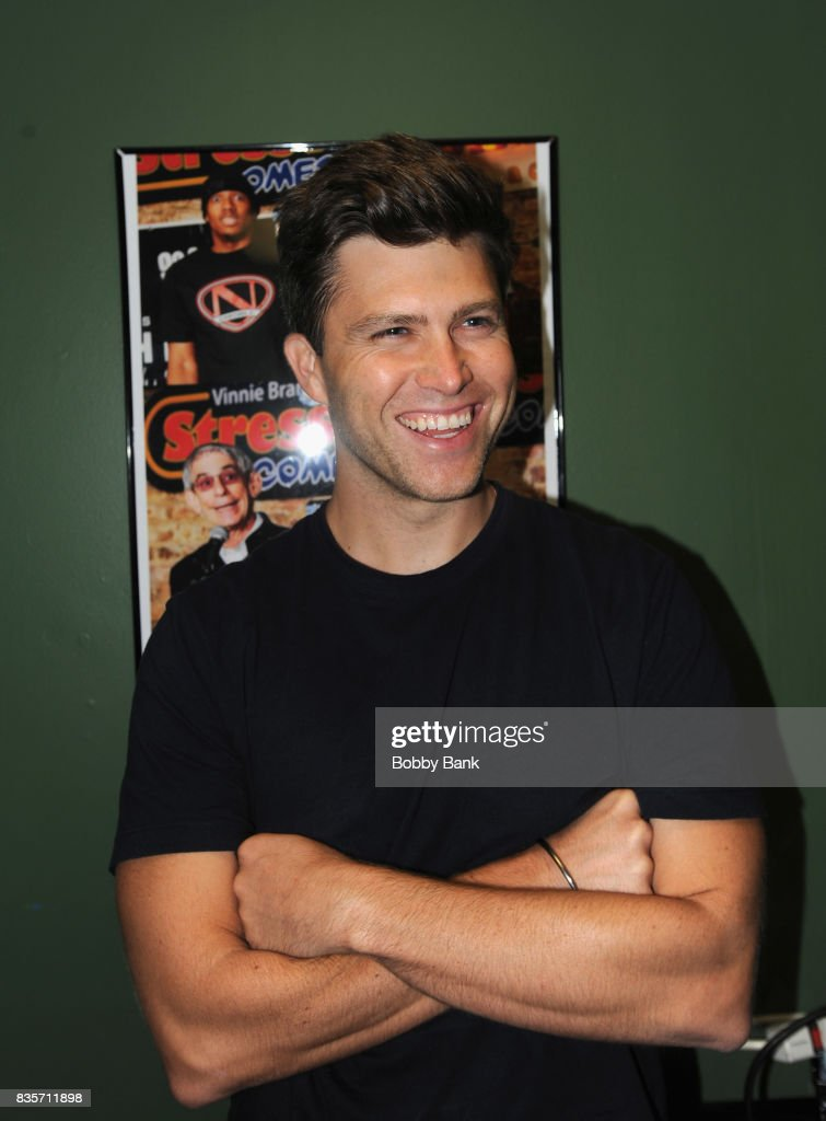 Colin Jost backstage at The Stress Factory Comedy Club on August 19, 2017 in New Brunswick, New Jersey.