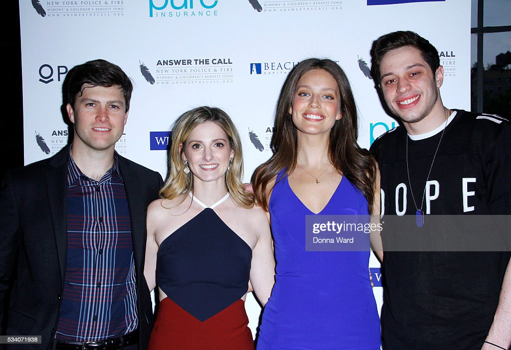 <a gi-track='captionPersonalityLinkClicked' href=/galleries/search?phrase=Colin+Jost&family=editorial&specificpeople=4809340 ng-click='$event.stopPropagation()'>Colin Jost</a>, Lauren Propeta, <a gi-track='captionPersonalityLinkClicked' href=/galleries/search?phrase=Emily+DiDonato&family=editorial&specificpeople=6155210 ng-click='$event.stopPropagation()'>Emily DiDonato</a> and <a gi-track='captionPersonalityLinkClicked' href=/galleries/search?phrase=Pete+Davidson&family=editorial&specificpeople=8019074 ng-click='$event.stopPropagation()'>Pete Davidson</a> attend The New York Police & Fire Widows' & Children's Benefit Fund 4th Annual Kick Off To Summer Benefit at The Bowery Hotel on May 24, 2016 in New York City.