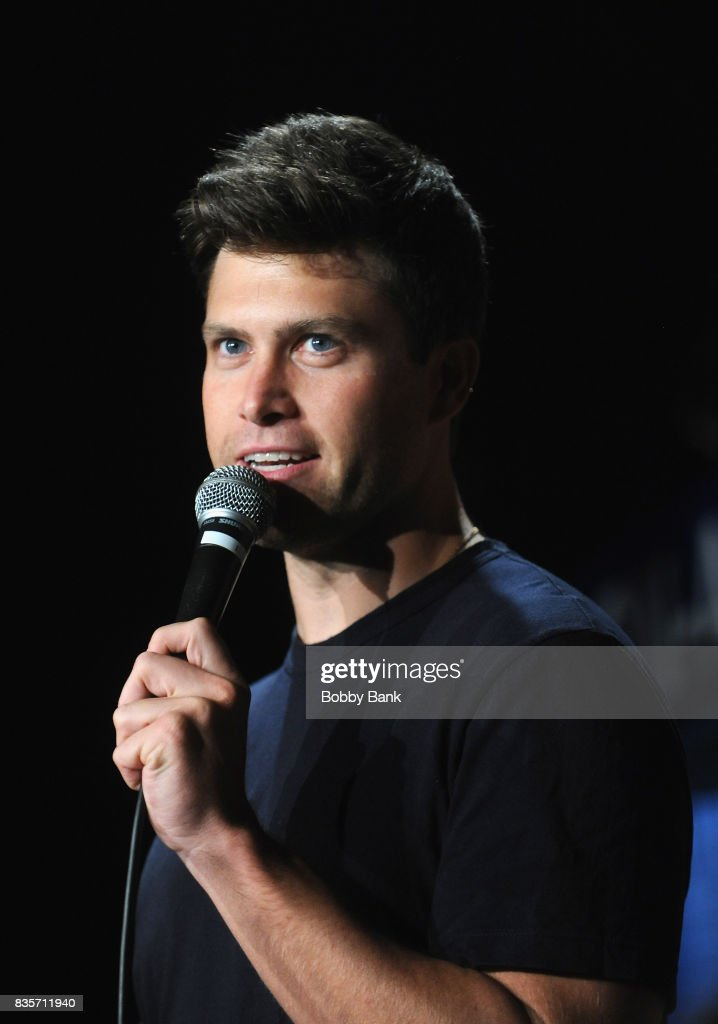 Colin Jost performs at The Stress Factory Comedy Club on August 19, 2017 in New Brunswick, New Jersey.