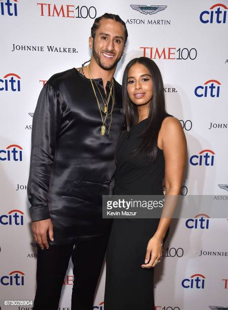 Colin Kaepernick and Nessa attend 2017 Time 100 Gala at Jazz at Lincoln Center on April 25 2017 in New York City