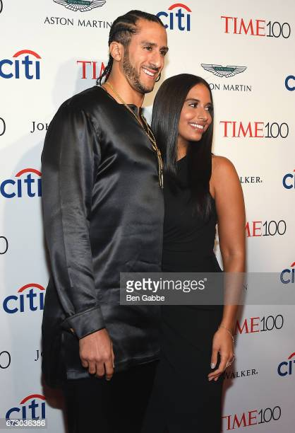 Colin Kaepernick and Nessa attend the 2017 Time 100 Gala at Jazz at Lincoln Center on April 25 2017 in New York City
