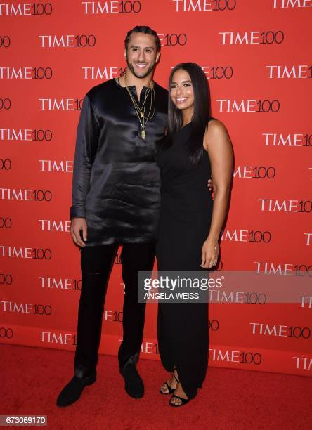 Colin Kaepernick and Nessa attend the 2017 Time 100 Gala at Jazz at Lincoln Center on April 25 2017 in New York City / AFP PHOTO / ANGELA WEISS