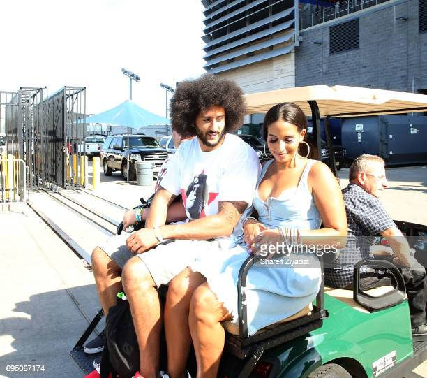 Colin Kaepernick and Nessy attend HOT 97 Summer Jam 2017 at MetLife Stadium on June 11 2017 in East Rutherford New Jersey