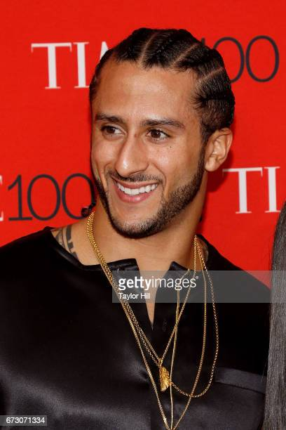 Colin Kaepernick attends the 2017 Time 100 Gala at Jazz at Lincoln Center on April 25 2017 in New York City