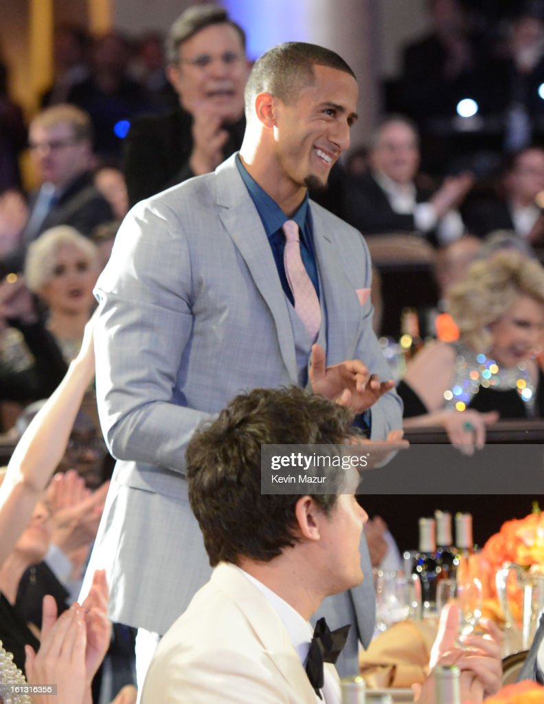 Colin Kaepernick attends the 55th Annual GRAMMY Awards Pre-GRAMMY Gala and Salute to Industry Icons honoring L.A. Reid held at The Beverly Hilton on February 9, 2013 in Los Angeles, California.
