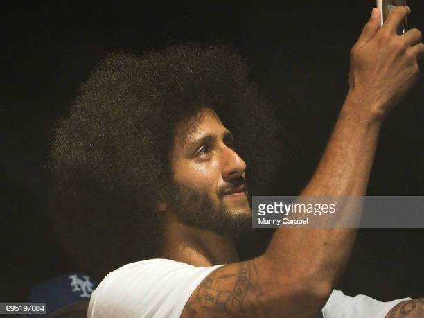 Colin Kaepernick attends the HOT 97 Summer Jam 2017 at MetLife Stadium on June 11 2017 in East Rutherford New Jersey