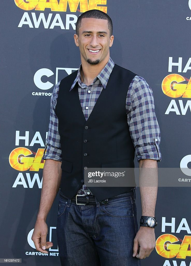 Colin Kaepernick attends the Third Annual Hall of Game Awards hosted by Cartoon Network at Barker Hangar on February 9, 2013 in Santa Monica, California.