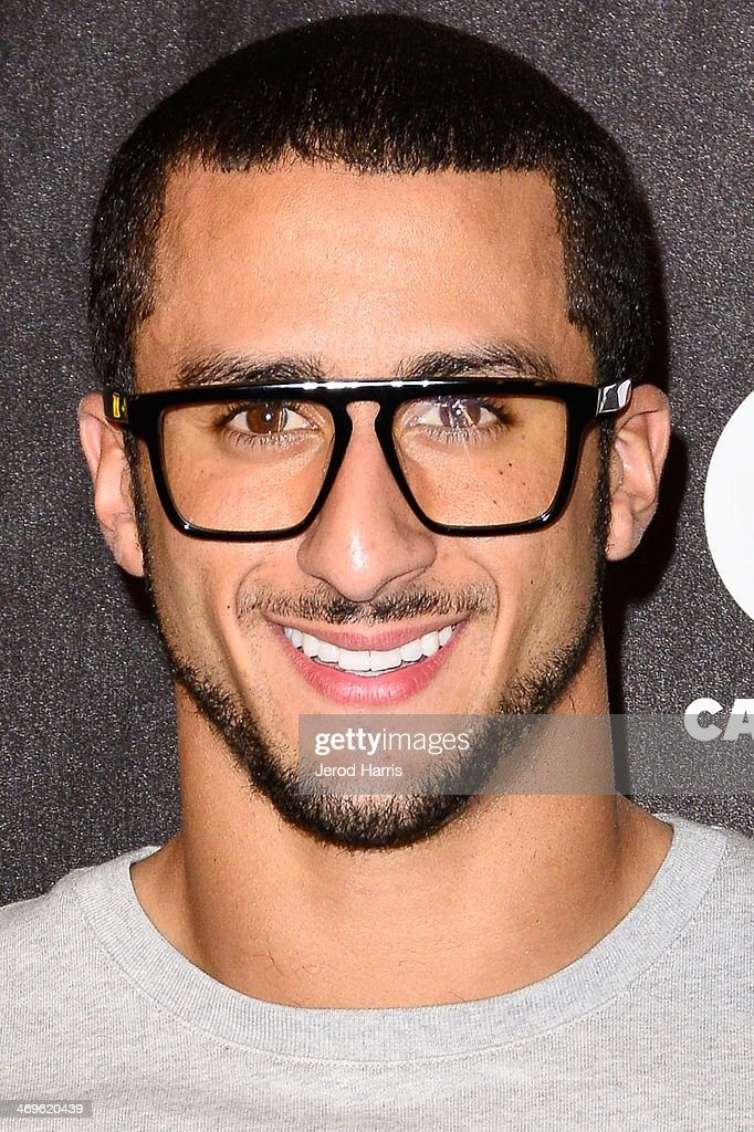 <a gi-track='captionPersonalityLinkClicked' href=/galleries/search?phrase=Colin+Kaepernick&family=editorial&specificpeople=5525694 ng-click='$event.stopPropagation()'>Colin Kaepernick</a> in the pressroom at the 4th Annual Cartoon Network Hall of Game Awards at Barker Hangar on February 15, 2014 in Santa Monica, California.